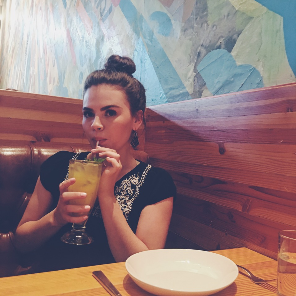 Sippin' away on my Pineapple Mint juice.