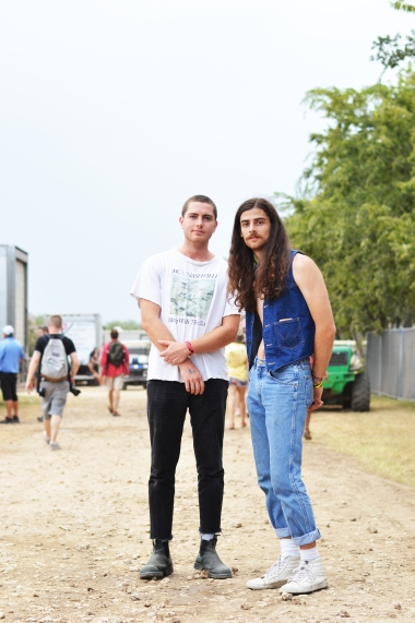 Samuel Jacobson and Matthew Swofford wearing Wranglers denim.