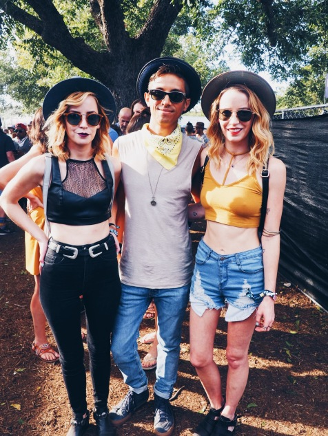 ACL trends featured: wide sunglasses, denim, and sheer mesh.