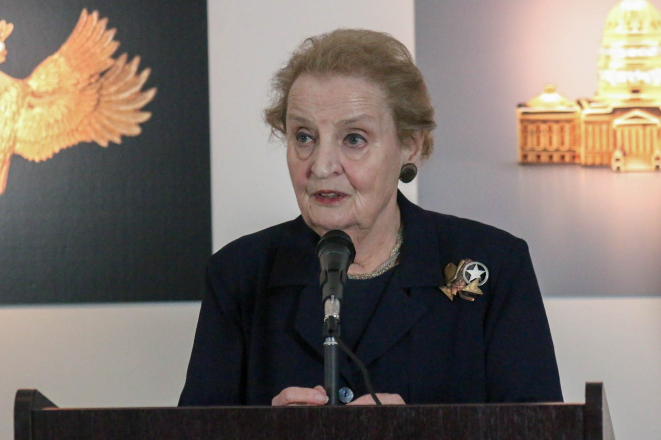 Speaking on her political statements and time as secretary of state.