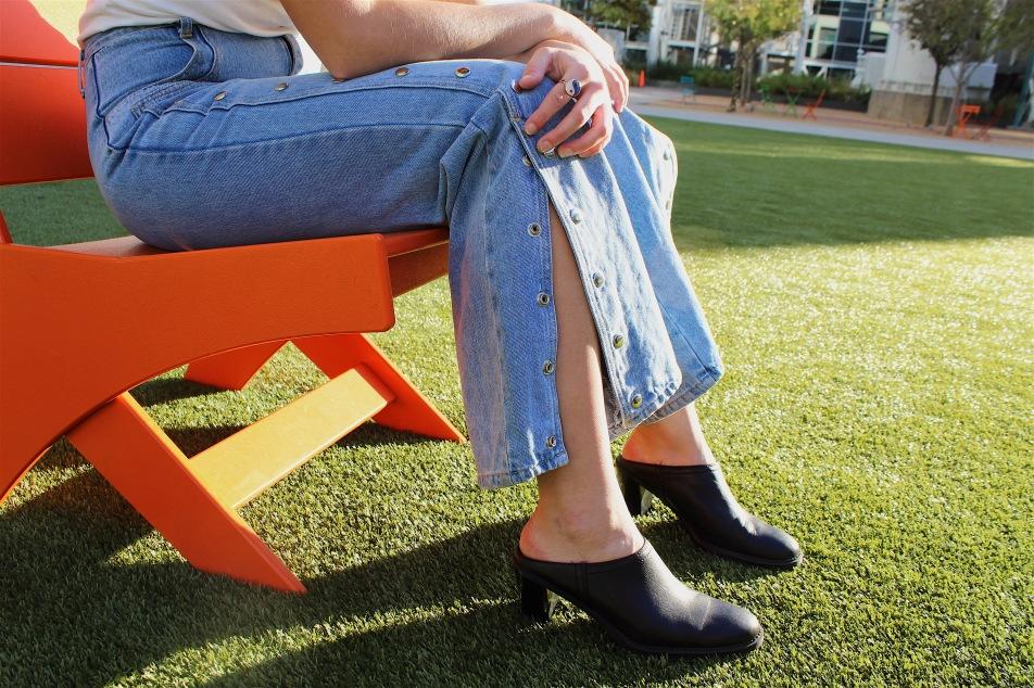 buttoned flare jeans prototype vintage spark magazine 2017