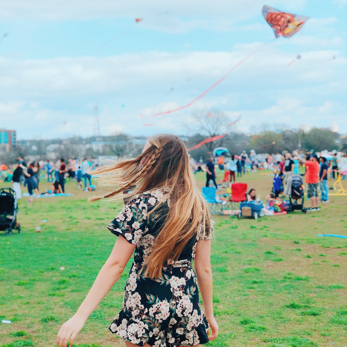 Madison Hager visits Zilker Park for the annual ABC kite festival and enjoys the great outdoors, the weather, the dogs and the families all present during the fun activities