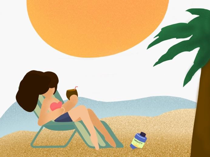 Ingrid Garcia heat waterproof dewy skincare routine makeup products sun